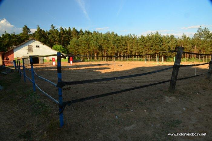 Obóz konny - stajnia w Dworku Wymysłowo