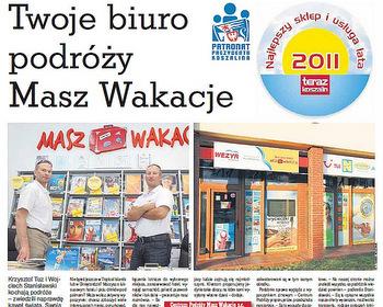 Biuro Podróży wyróżnione w plebiscycie magazynu Teraz Koszalin i Prezydenta Miasta Koszalin